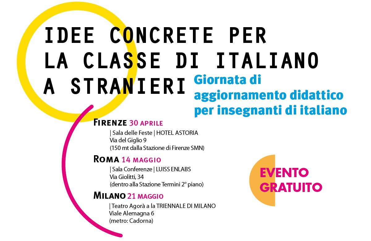 Locandina Giornata ALMA Edizioni a Firenze, Roma e Milano