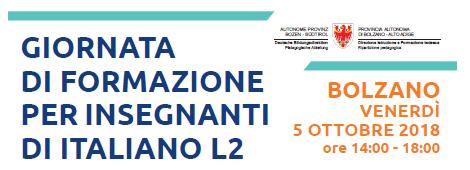 Giornata di formazione per insegnanti di italiano L2