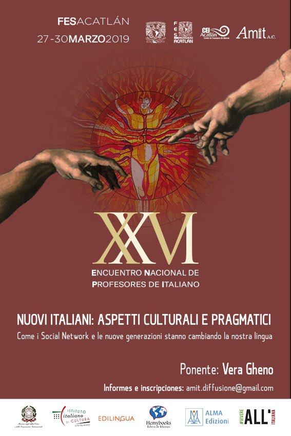 Locandina XXVI Incontro nazionale dei Professori di italiano AMIT